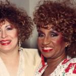 Con la famosa Celia Cruz