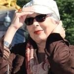 Gilda en el Parque Central de NY donde tuvo lugar la entrevista