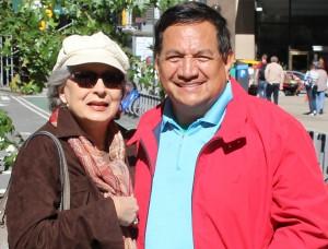 Gilda Mirós con el periodista Roberto Bustamante, autor de la entrevista