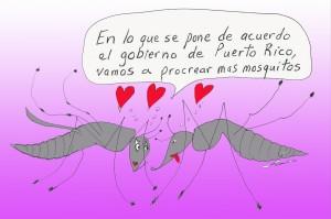 Sobre la situación de los mosquitos del ZIKA. En este caso, se siguen reproduciendo debido a que el gobierno no tome una acción alterna a la fumigación por avión.