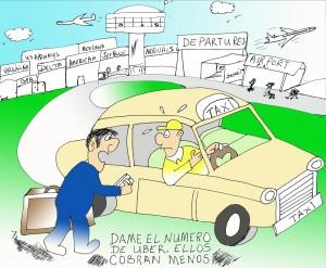 sobre el asunto de UPBER en PR donde los taxistas y los nuevos empleados de UBER han creado confusion entre la gente y el gobierno.UBERTAXI