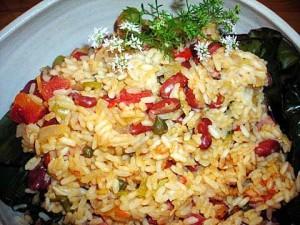 arroz cpn habichuelas apastelado