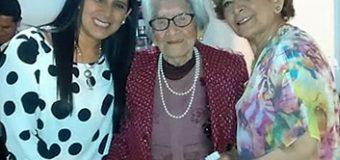 Luzmila Bermejo, festeja 104 años de vida