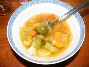 sopa yuca calabaza
