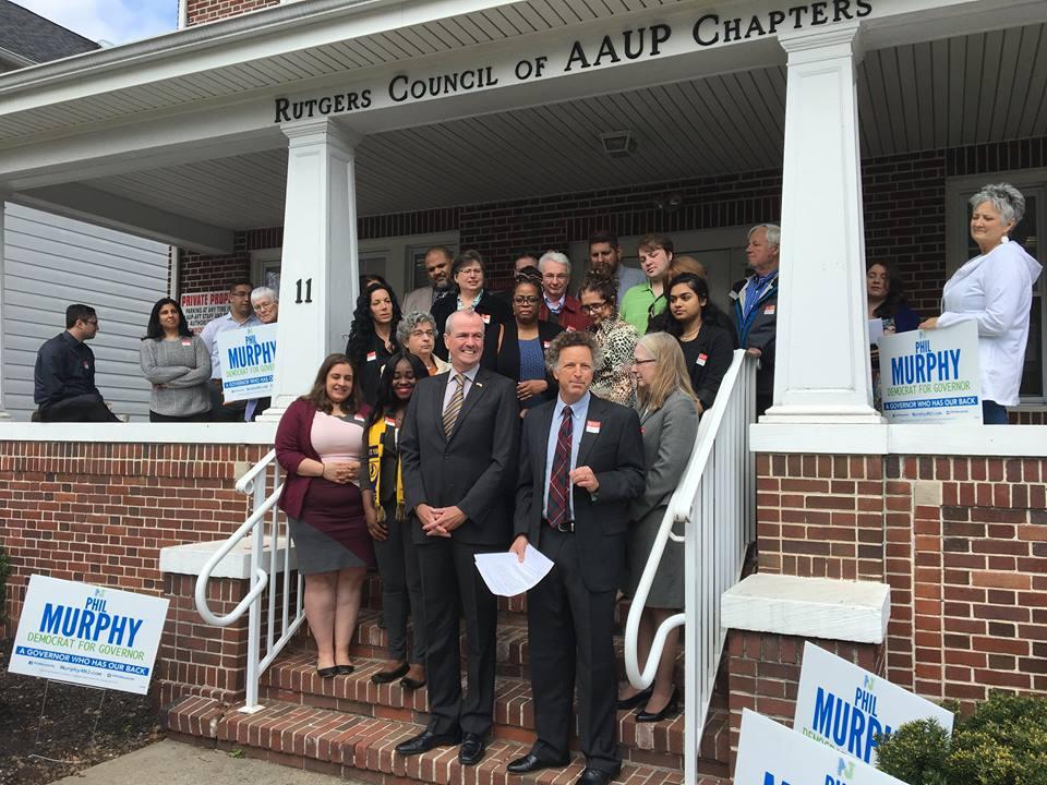 Sindicato de Profesores de Rutgers AAUP-AFT respalda a Phil Murphy para gobernador