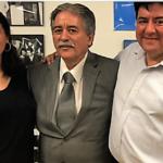 Bolívar Arellano con sus hijos Linda y Juan Arellano (Foto Humberto Arellano)