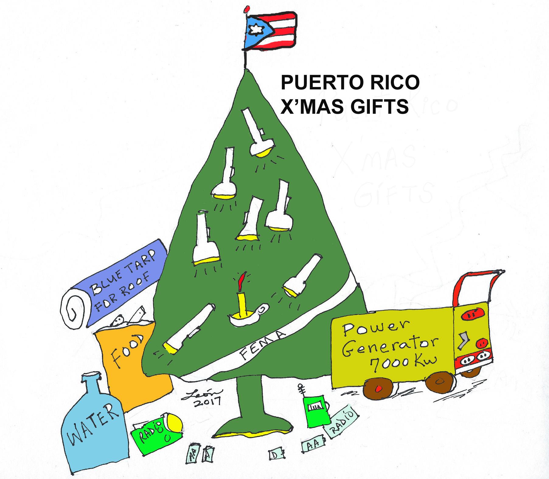 Caricaturas de Puerto Rico: Describe los regalos de navidad de esta temporada en Puerto Rico debido al huracán Maria
