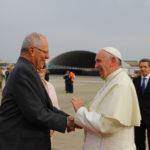 El Papa Francisco junto al presidente peruano (Foto Andina)
