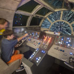 On the Disney Dream, kids are transported to a far away galaxy at Star Wars: Millennium Falcon, a Force-filled play area inspired by the spacecraft from the legendary saga. Aboard the spaceship, younglings join the Rebel Alliance in the epic battle of good versus evil by assisting with navigation of this powerful space vehicle. (Kent Phillips, photographer)