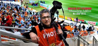 Rafaél Crisóstomo, tenaz fotoperiodista en el mundial de fútbol 2018