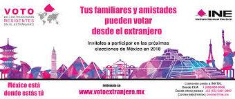 Más de 140 mil mexicanos se registran para votar desde el extranjero