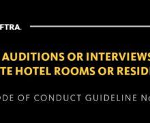SAG-AFTRA pide poner fin a audiciones y entrevistas en habitaciones de hotel o residencias privadas