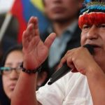 Jaime Vargas presidente de la Confederación de Nacionalidades Indígenas.