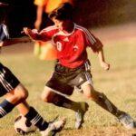 Desde niño deslumbró en el fútbol (foto archivo familiar)